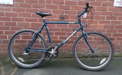 """£100 MT Shasta, 22"""" steel frame, 26"""" wheels, 18 speed"""