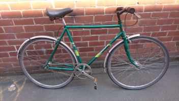 "£150 Viscount 1980, 21.5"" steel frame, 700C wheels, single speed (flip flop hub)"