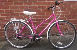 "£100 Peugeot Berkeley, 20"" steel frame vintage road bike, 700C wheels, 18 speed"